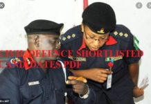 Civil defence Shortlisted Candidates