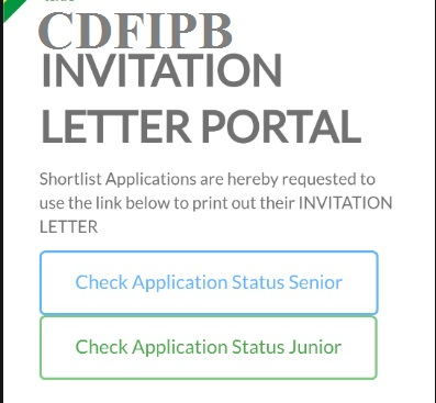 www cdfipb careers Shortlisted Candidates