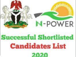 www.npower.fmhds.gov.ng - shortlist