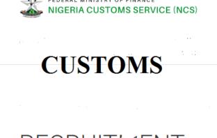 Customs recruitment
