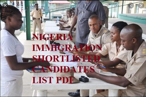 NIGERIA IMMIGRATION SHORTLISTED CANDIDATES