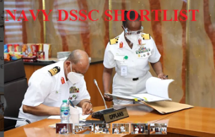 Nigerian Navy DSSC Shortlisted Candidates PDF