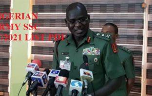 nigerian army ssc shortlisted candidates