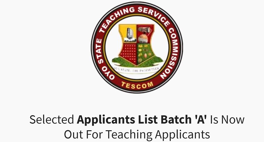 oyo state tescom shortlisted candidates