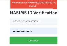 NASIMS ID VERIFICATION