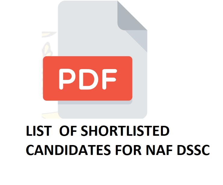 Nigerian Airforce DSSC Shortlisted Candidates