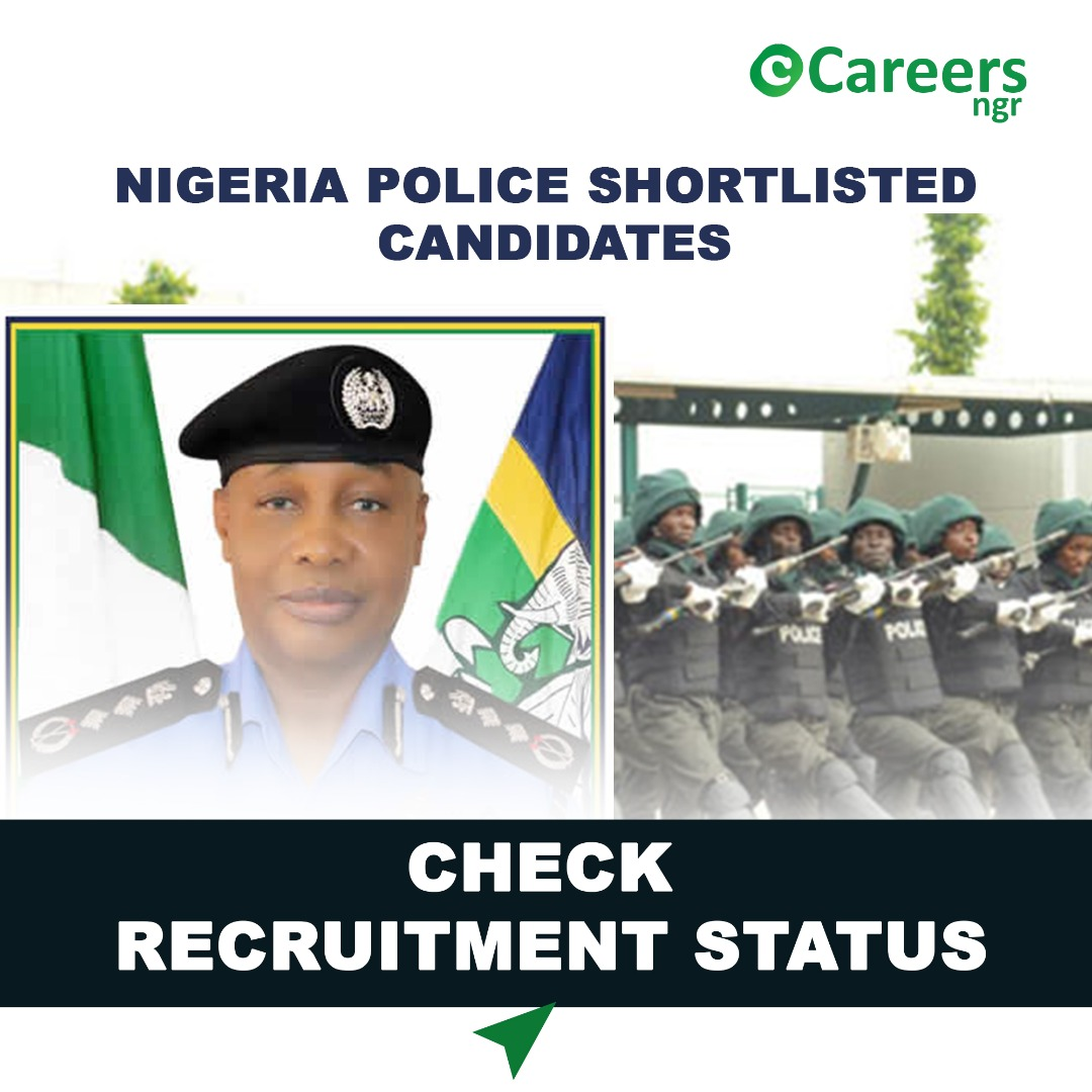 Names Of Shortlisted Candidates For Nigerian Police